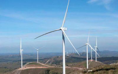 Inauguración del parque eólico Maldonado en Uruguay